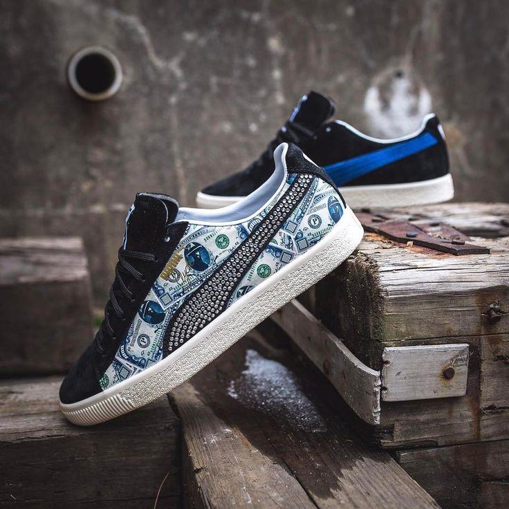 "Mita Sneakers x Puma Clyde ""$1,000 Bill"""