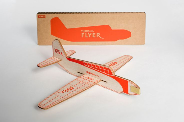Turbo Flyer Balsa Wood Model Airplanes in Four Colours