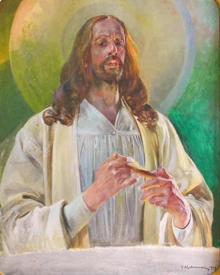 #Malczewski - Chrystus w Emaus, 1909, Lwowska Galeria Sztuki