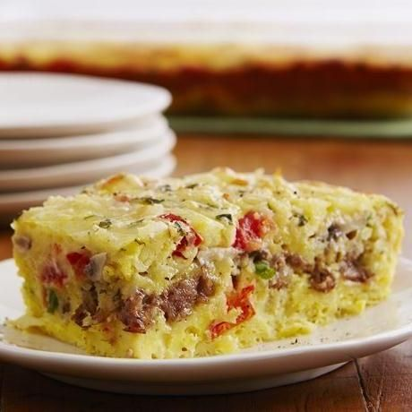 Cheesy Sausage and Egg Bake - it isn't just for breakfast!