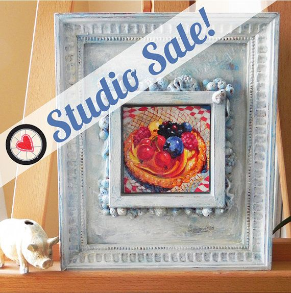 Studio Clearance Sale Dessert Painting Italian By RebeccaShellyArt Art Collectibles Acrylic DessertsDining Room