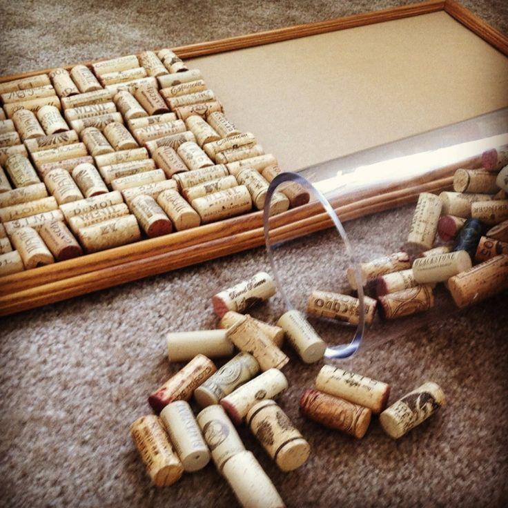 DIY Cork Board from Wine Corks