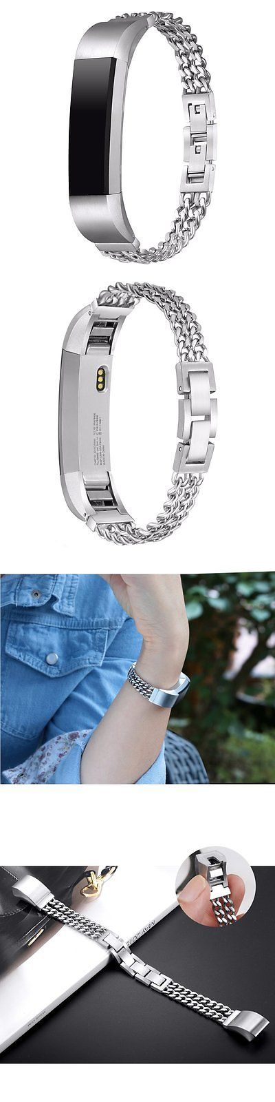 Fit Tech Parts and Accessories 179799: Sleek Steel Chains Small New Wristband Band Strap Bracelet For Fitbit Alta And Hr -> BUY IT NOW ONLY: $32.96 on eBay!