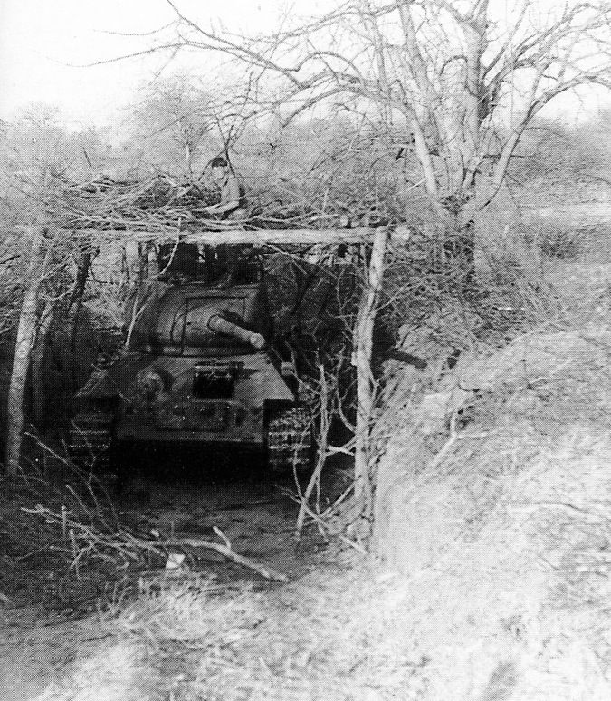 A SWAPO/FAPLA (Armed Forces for the Liberation of Angola) T-34/85 captured by South African forces during Operation Protea in 1981. This was one of the first encounters with heavy hardware by the...