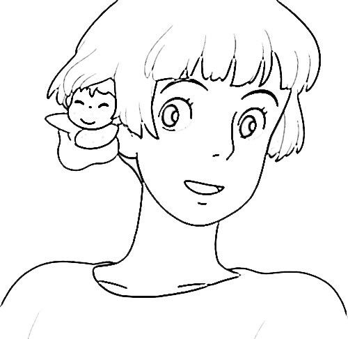 85 best ponyo totoro party images on pinterest studio for Ponyo coloring pages