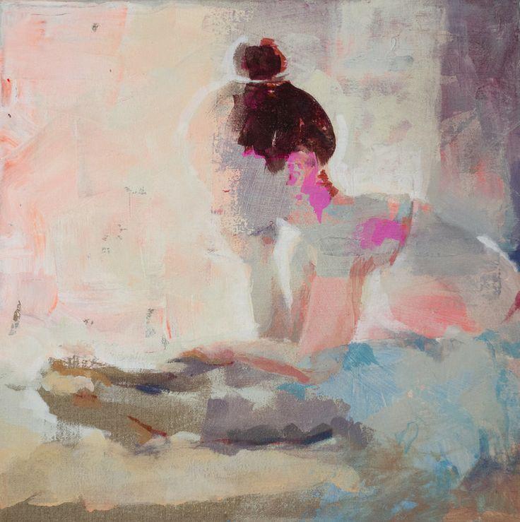 Saatchi online artist: Fernanda Cataldo; mixed media painting 'the posca dance'