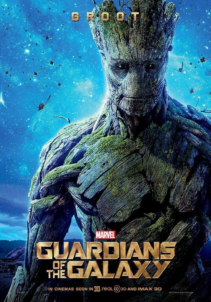 Vin Diesel como Groot en #GuardiansoftheGalaxy