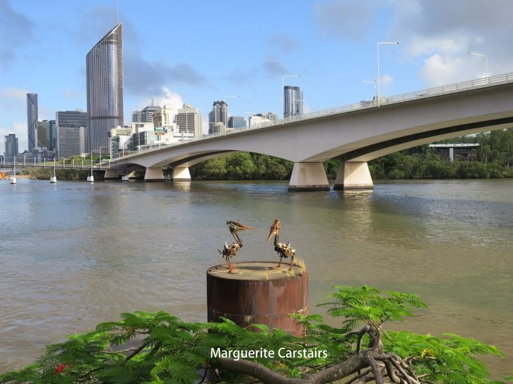 You can walk along Brisbane River on both sides. One side has Southbank, which starts around the Kurilpa Bridge, the William Jolly Bridge and continues along past Victoria Bridge, then the Captain …