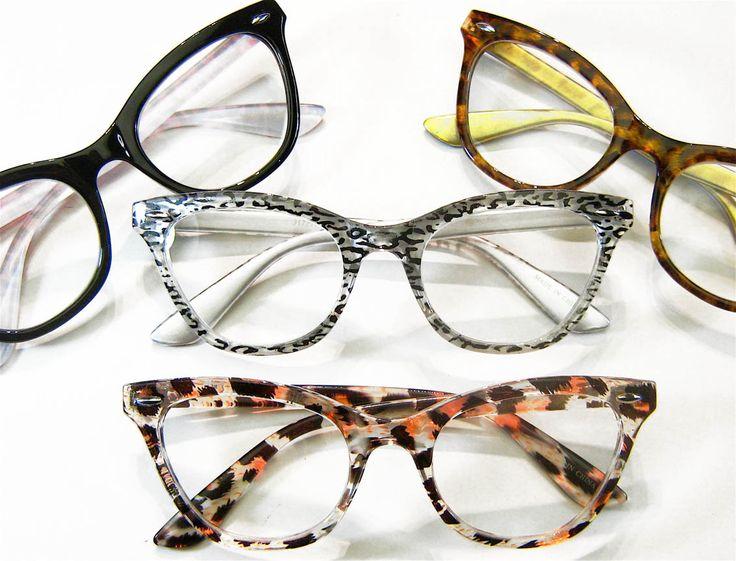 "'Vivian"" wicked cat eye reading glasses."