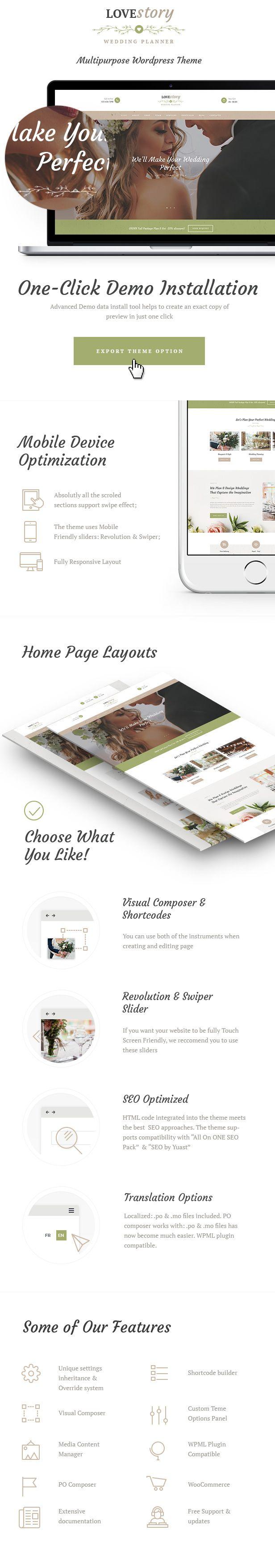 Best 26 Wedding Wordpress Themes ideas on Pinterest | Wordpress ...