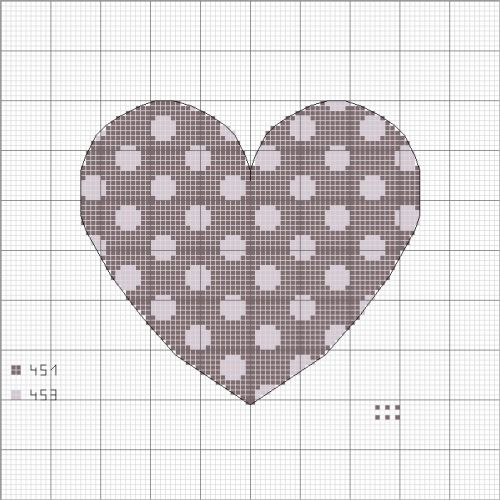 Polka Dot Heart Cross Stitch