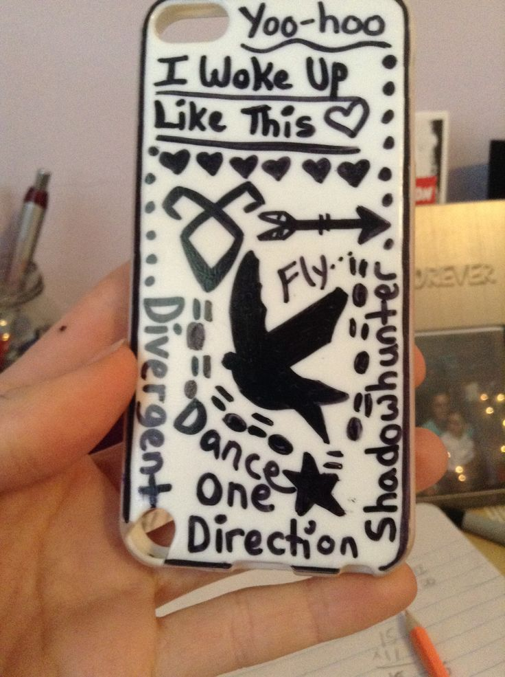 DIY phone case with sharpie
