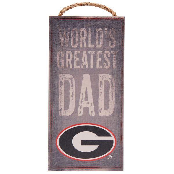 "Georgia Bulldogs 6"" X 12"" World's Greatest Dad Sign - $12.99"