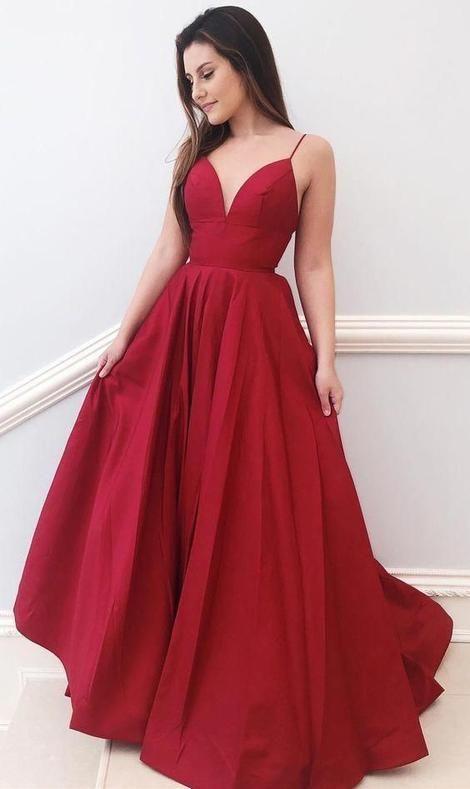 463cfdd122c Simple Long Prom Dresses