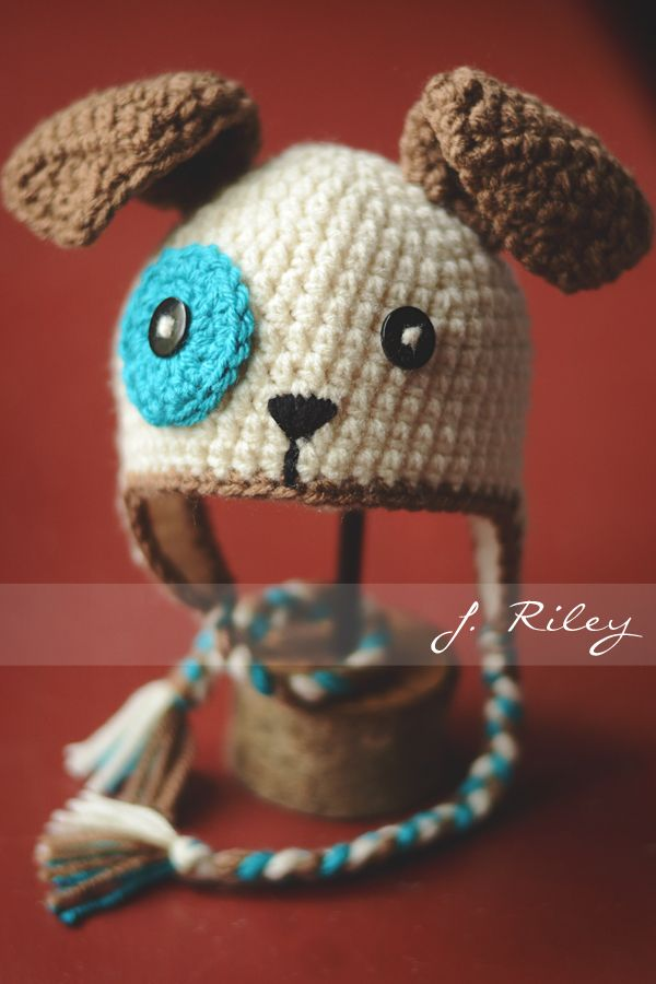 Crochet Pattern For Dog Hat With Ear Holes : Crochet Puppy Hat Crochet ideas Pinterest Puppys ...