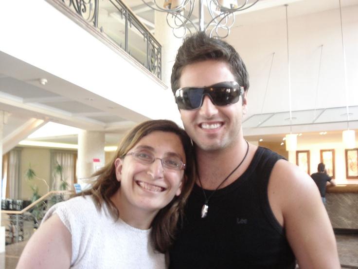 Con @David_Busta. Hotel Los Abetos Stgo de Compostela