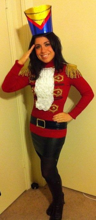 "Instead of a ""tacky sweater"" I decided to go as a nutcracker."