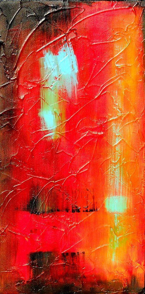 Canvas wall art original abstract acrylic art painting for Textured acrylic abstract paintings