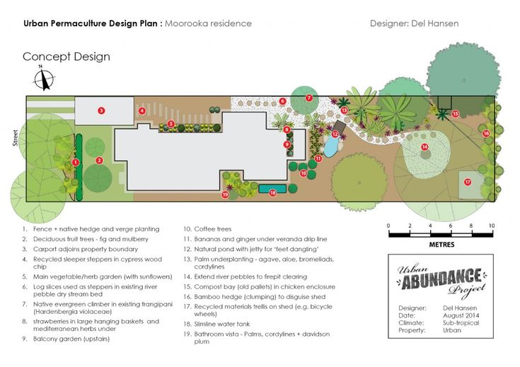 Urban subtropical permaculture design - Moorooka, Brisbane