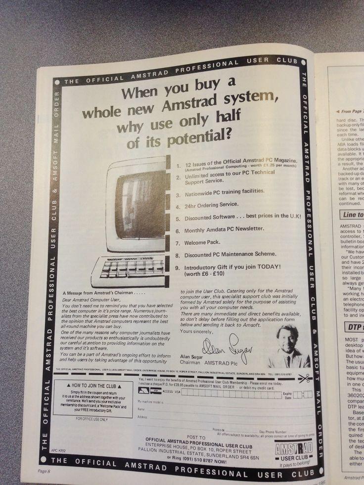 Amstrad Advert 1989 with Lord Alan Sugar