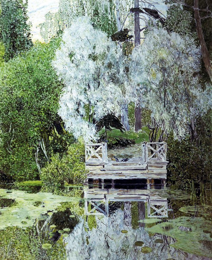 Aleksandr Golovin(Александр Головин Russian, 1863-1930) Серебристые Вётлы Silver Vёtly 1909