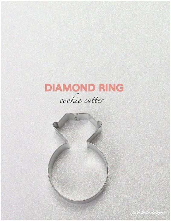 Diamond Ring Cookie Cutter by PoshLittleDesigns on Etsy, $2.00