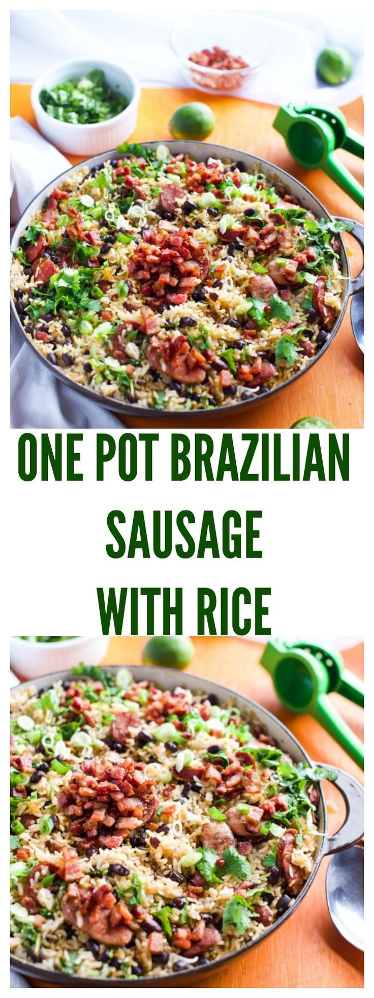 ONE POT BRAZILIAN SAUSAGE WITH RICE