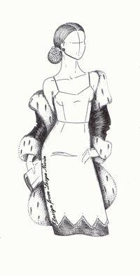 Выкройка платья на бретелях