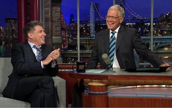 David Letterman city scape talk show set