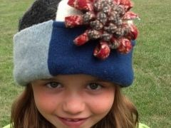 Felted Wool Patchwork Hat