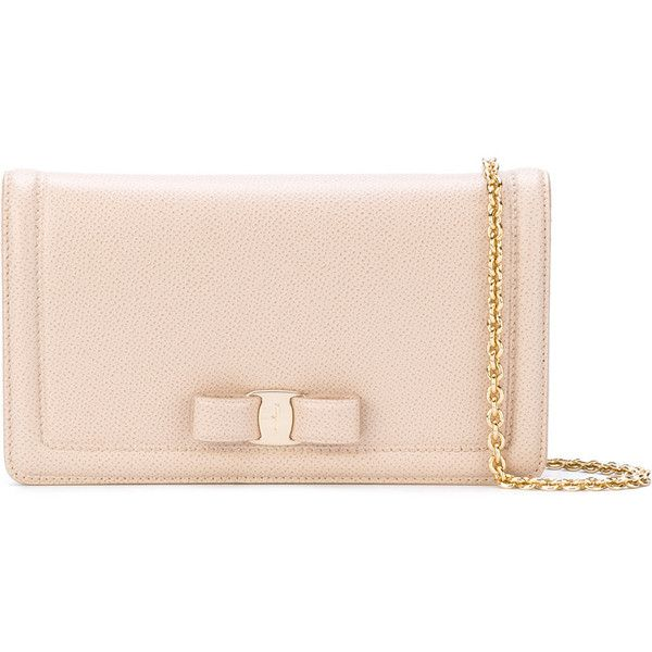 Salvatore Ferragamo Vara clutch bag ($765) ❤ liked on Polyvore featuring bags, handbags, clutches, nude, nude clutches, pink leather purse, real leather handbags, genuine leather handbags and real leather purses