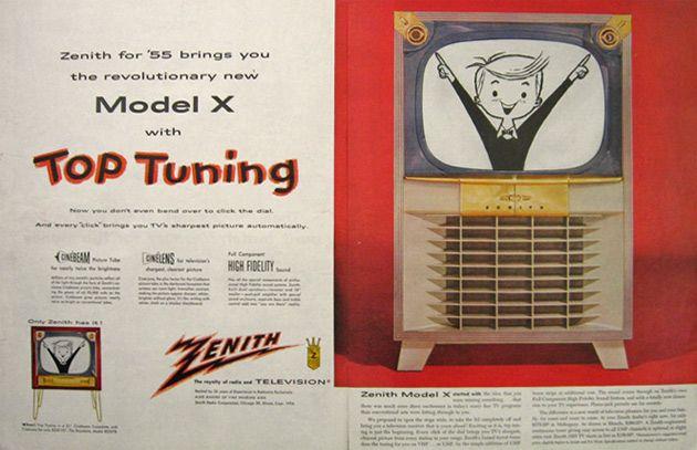 1955 Zenith Model X Television TV Ad