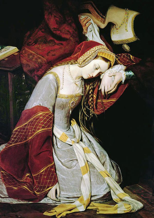 Anne Boleyn in the Tower by Édouard Cibot, 1835.