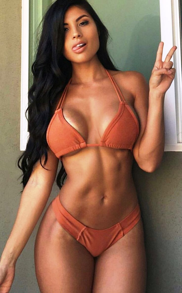 SEXY ATHLETIC DREAM BIKINI BODY of Spanish-Mexican #Fitness & fashion model Karen Vi : if you LOVE Health, Exercise & #Fitspiration - you'll LOVE the #Motivational designs at CageCult Fashion: http://cagecult.com/mma