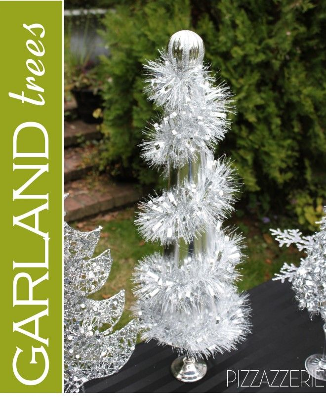 Black White Snowman Holiday Table Diy Garland Trees