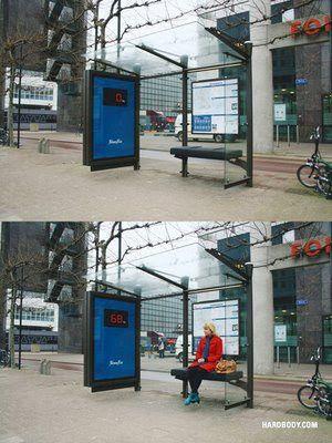 Bem criativo esse ponto de ônibus!! Dani Tâmega Fit blog - blog de fitness by Dani Tâmega