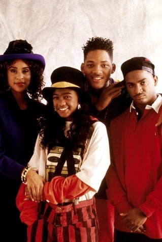 FLAT TOP HAIR, CRAZY HATS, AND CLOWN PANTS ... OH, MY -- We loved watching Tatyana Ali grow up alongside Will Smith on The Fresh Prince of Bel Air, but we truly hope that whole the Banks penchant for big hats and loud-loud patterns stay in a time warp. But dont think the Banks family were the only ones suffering from kaleidoscopic style ...