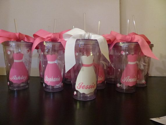 Wedding Tumblers   Bride Bridesmaid gifts by GetItPersonalized, $10.00