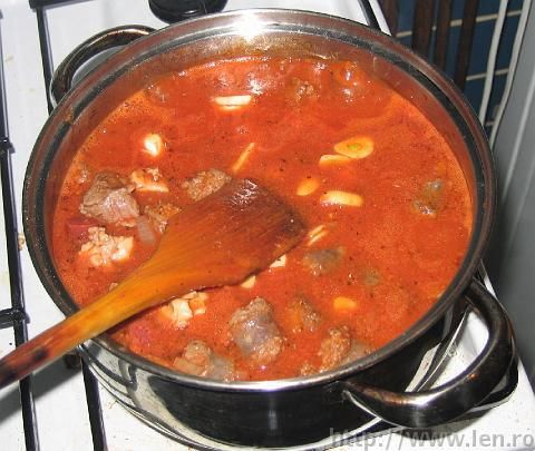 Romanian pork beef and sausage stew. This stuff is the best for this winter!