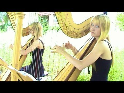 RIHANNA - Disturbia (Harp Twins) Camille and Kennerly, Harp Duet