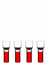 Holiday Club Snapps Glasses, set of 4 red