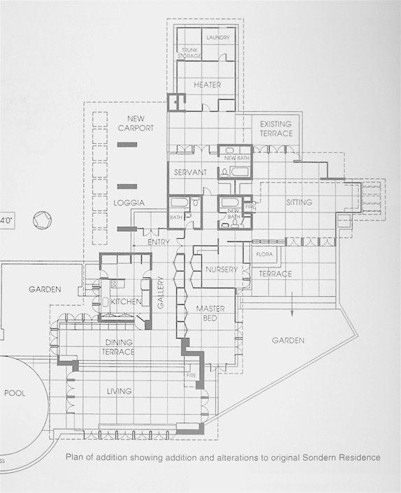 Clarence sondern residence 1940 kansas city missouri for Floor plans kansas city
