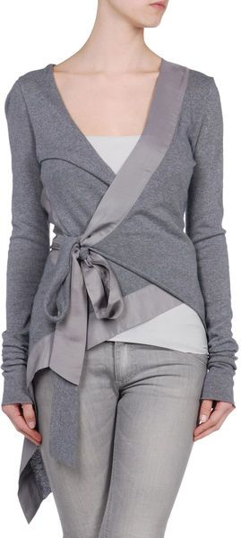 upcycled idea: Now this cardigan is retailed at $140, but it would be very easy to find an over-sized long-sleeve shirt and make this