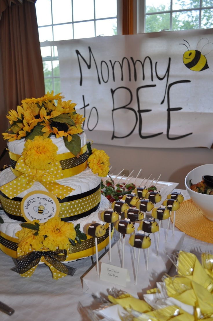 Mommy To BEE Theme For Baby Shower