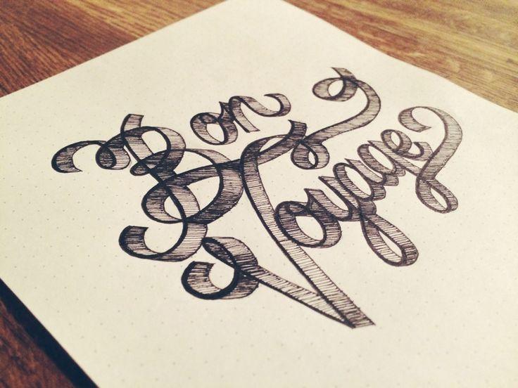 Bon voyage by jenna carando typography logo