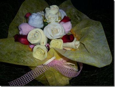 regalos para bebe en forma de arreglo floral