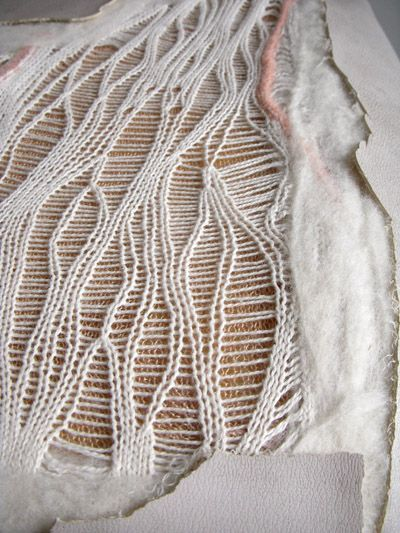 Conceptual Textiles Design using knitting & felting for a textural surface exploring the theme of regrowth // Kevin Quale