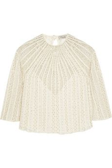 Temperley London Crivelli embellished embroidered tulle top | NET-A-PORTER