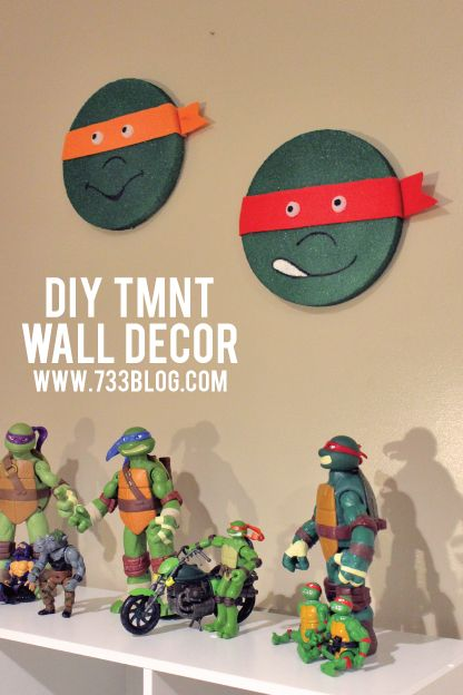diy tmnt wall decor um can you say awesome