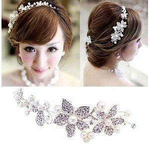 花嫁 結婚式 披露宴 二次会ウェディングドレス 素敵 髪飾り 首飾り 飾り物 ヘアアクセサリー 頭飾り ティアラ クラウン ブライダル用